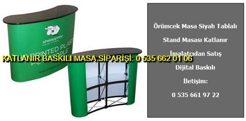 örümcek örümcek stand masası katlanır baskılı fiyat