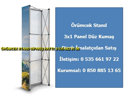 katlanır örümcek stand 3×1 panel düz tekstil katlanır fiyat