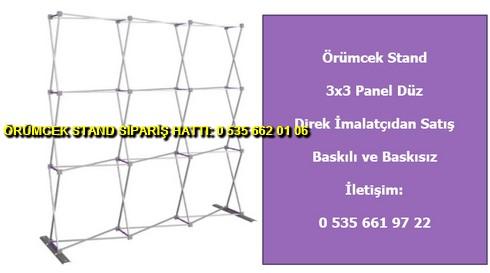 katlanır 3 panel düz örümcek stand 3×3 modüler tekstil fiyat
