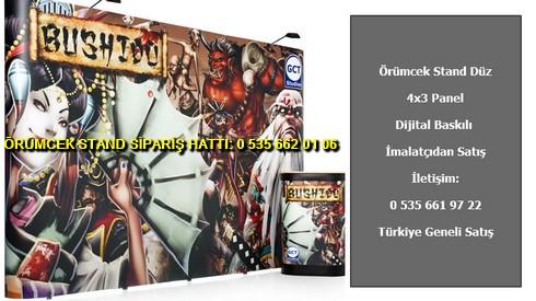 katlanır 4 panel baskılı örümcek stand düz fiyat