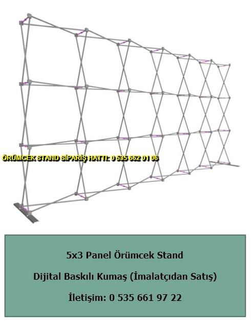 katlanır 5×3 örümcek stand düz dijital baskılı fiyat