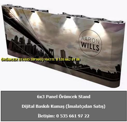katlanır 6×3 panel örümcek stand düz kumaş fiyat